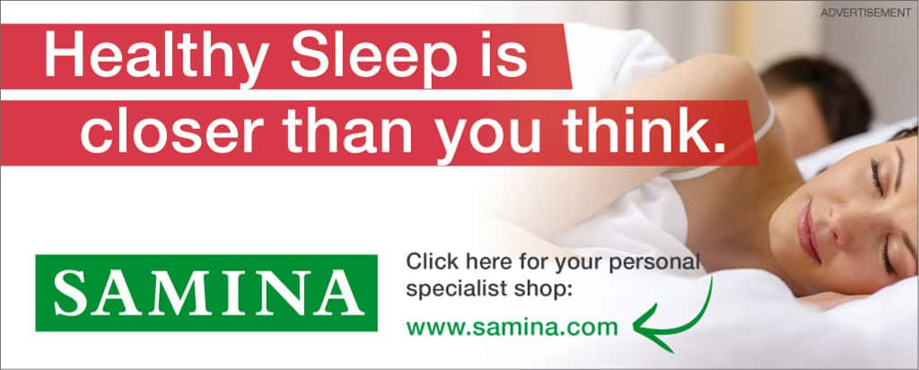SAMINA products for healthy sleep
