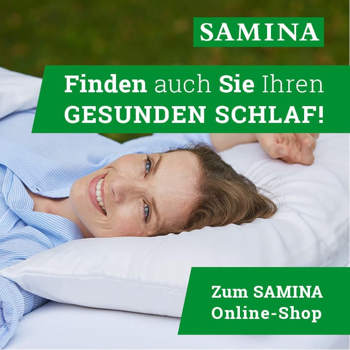 SAMINA Online-Shop - Finden auch Sie Ihren gesunden Schlaf!