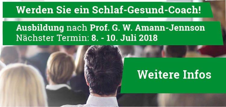 Ausbildung zum Schlaf-Gesund-Coach nach Prof. Amann-Jennson