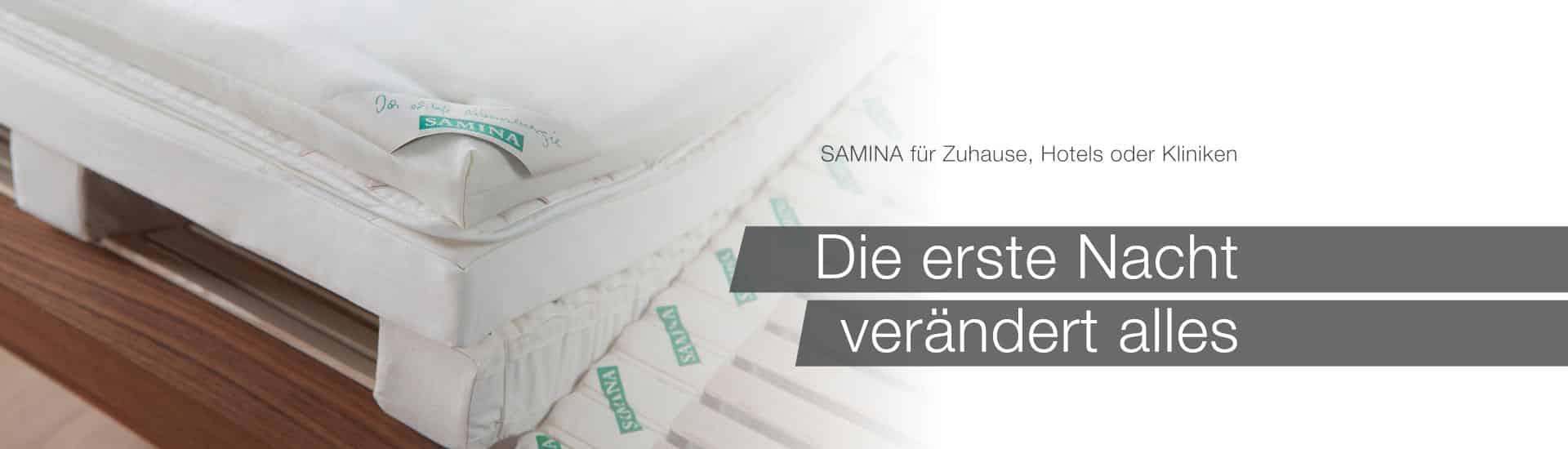 SAMINA Online-Shop - Finden auch Sie Ihren gesunden Schlaf!