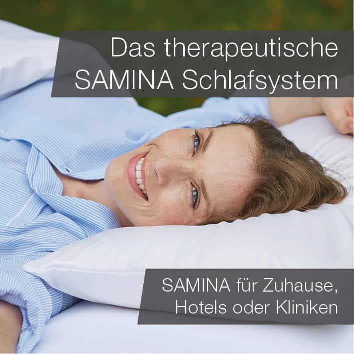 Das therapeutische SAMINA Schlafsystem - SAMINA f�r zu Hause, Hotels oder Kliniken