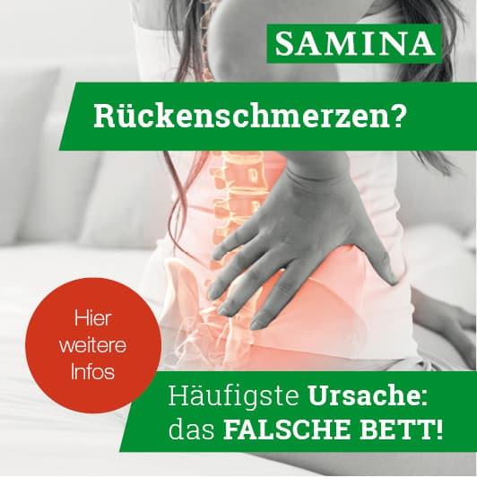 SAMINA bei Rückenschmerzen