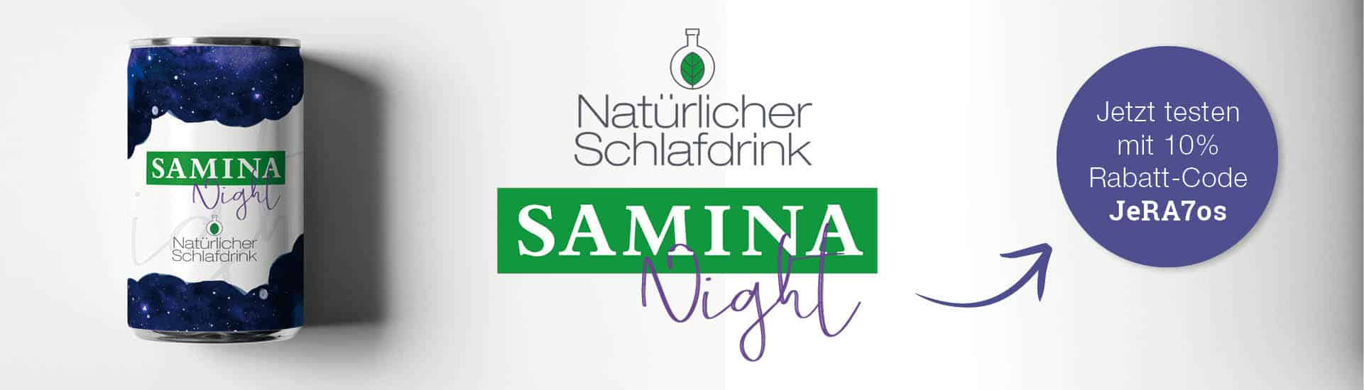 SAMINA Night - der nat�rliche Schlafdrink