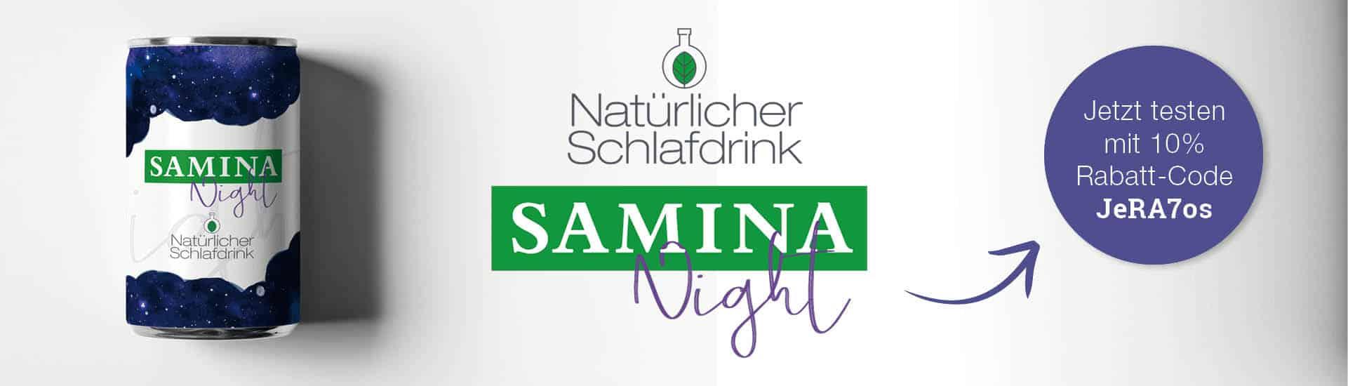 SAMINA Night - der nat�rliche Schlafdrink